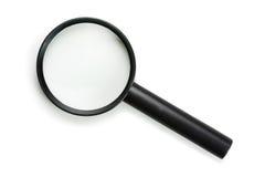 Ikonenartvergrößerungsglas, getrennt auf Weiß Stockfoto