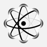 Ikonenatommodell des Atoms, Atom-symbo Stockfoto