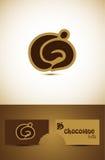 Ikonenauslegung der heißen Schokolade Stockfotografie