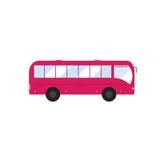Ikonenbus in der flachen Art Rosa Bus Lizenzfreies Stockfoto