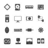 Ikonencomputer-Vektorillustration Stockfotos