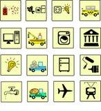 Ikonendienstleistungen Stockbilder