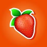 Ikonenerdbeere Erdbeeraufkleber Lizenzfreies Stockbild