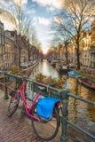 Ikonenhafte Ansicht Amsterdams Lizenzfreies Stockfoto
