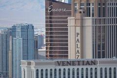 Ikonenhafte Las Vegas-Hotels Stockfotos