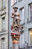 Ikonenhafte Statue in der alten Stadt von Bern, die Schweiz Stockbild
