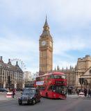 Ikonenhafte zentrale London-Szene stockfoto