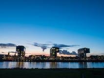 Ikonenhafter Crane Houses in Köln, Deutschland Lizenzfreies Stockfoto