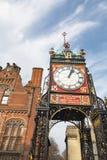 Ikonenhafter Glockenturm von Chester stockfoto