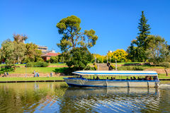 Ikonenhaftes Glotzaugeboot in Torrens-Fluss Stockbilder