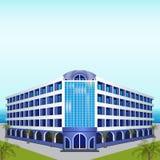 Ikonenhotel: Rest, Meer, Sonne, Palmen Lizenzfreie Stockfotografie