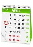 Ikonenkalender für den 1. April Lizenzfreie Stockbilder