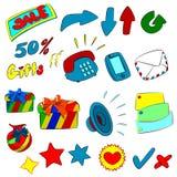 Ikonenkarikatur Stockfoto