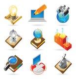 Ikonenkonzepte für Wissenschaft Stockbilder