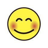 Ikonenlächeln smileygelb auf einem weißen Hintergrund stockbilder