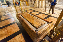 Ikonenlampen Tempel des heiligen Sepulcher in Jerusalem Lizenzfreie Stockfotografie