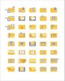 Ikonenmatratzen, Bett Stockbild
