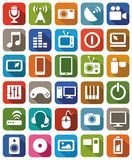 Ikonenmedienfarbe Stockbilder