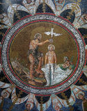 Ikonenmosaik im Baptisterium des Neons, Ravenna Stockfotos