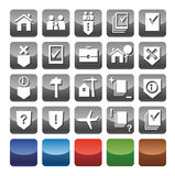 Ikonenrechtsdienstleistungen Stockbilder