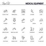 Ikonensatz der medizinischen Ausrüstung stock abbildung