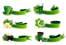 Ikonensatz St. Patricks Tages Stockbild