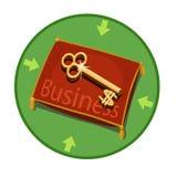Ikonenschlüssel für Geschäft Stockbild