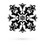 Ikonenschneeflocken Raster 1 1 Stockfotografie