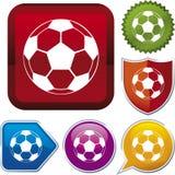 Ikonenserie: Fußballkugel Stockfotografie