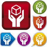 Ikonenserie: Griff sorgfältig Lizenzfreies Stockbild
