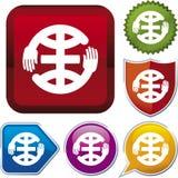 Ikonenserie: Hände auf Innerem (Vektor) Lizenzfreie Stockfotografie