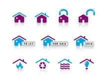 Ikonenserie. .home in Verbindung gestanden Lizenzfreies Stockbild