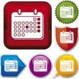 Ikonenserie: Kalender Lizenzfreie Stockfotografie
