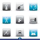 Ikonenserie - Kommunikation Stockfotografie