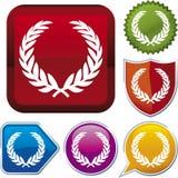 Ikonenserie: Wreath (Vektor) Lizenzfreies Stockfoto
