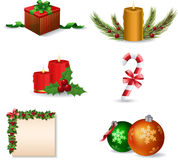 Ikonenset des neuen Jahres und des Weihnachten Lizenzfreie Stockbilder