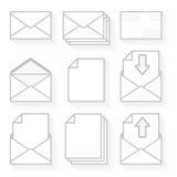 Ikonenumschläge und -papier. Lizenzfreie Stockbilder