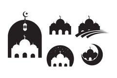 Ikonenvektor Illustrations-Entwurfsschablone der Moschee moslemische vektor abbildung