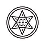 Ikonenvektorzeichen und -symbol der chinesischen Kontrolleure lokalisiert auf weißem b lizenzfreie abbildung