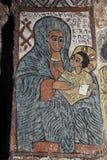Ikonograficzne sceny w Abuna Yemata kościół w Etiopia Obraz Stock