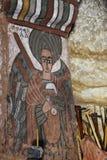 Ikonograficzne sceny w Abuna Yemata kościół w Etiopia Fotografia Stock