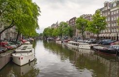Ikonowe Kanałowe sceny od Amsterdam Obraz Royalty Free