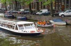 Ikonowe sceny od Amsterdam Zdjęcia Stock