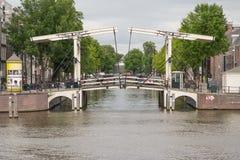 Ikonowe sceny od Amsterdam pokazuje kanały Zdjęcie Royalty Free