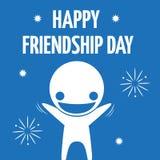 Ikonowego składu przyjaźni szczęśliwy świętowanie Obrazy Stock