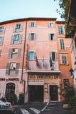 Ikonowi budynki Rzym strzelali podczas studytrip obraz stock