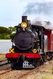 Ikonowi 207 Cockle Parowy pociąg w Middleton Południowy Australia na 24th 2018 Kwietniu Zdjęcia Stock
