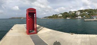 Ikonowy Brytyjski Czerwony telefonu pudełko Fotografia Stock