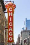 Ikonowy Chicagowski teatru znak Obraz Royalty Free