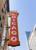 Ikonowy Chicagowski teatru znak Zdjęcie Stock